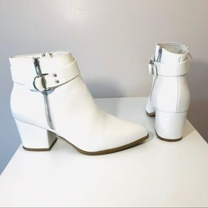 Charolette Russe Ankle Bootie- White